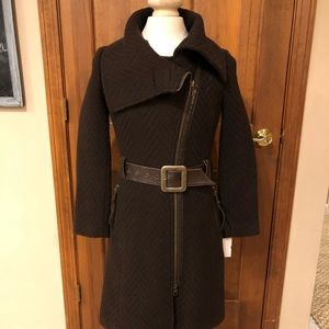 Mackage Wool & Leather Trench